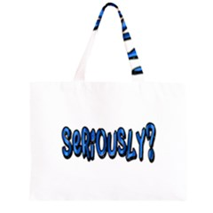Seriously Zipper Large Tote Bag by Valentinaart