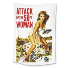Attack Of The 50 Ft Woman Large Tapestry by Valentinaart
