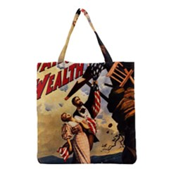 The War Of Wealth Grocery Tote Bag by Valentinaart