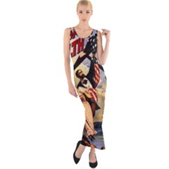 The War Of Wealth Fitted Maxi Dress by Valentinaart