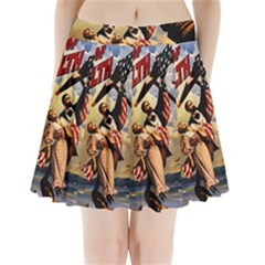 The War Of Wealth Pleated Mini Skirt by Valentinaart