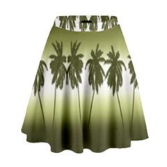 Tropical Sunset High Waist Skirt by Valentinaart