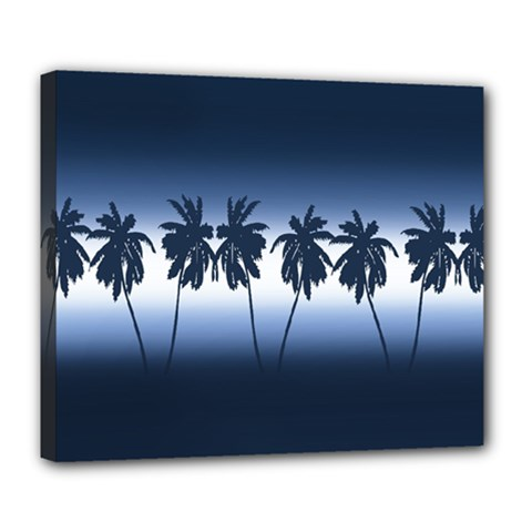 Tropical Sunset Deluxe Canvas 24  X 20   by Valentinaart