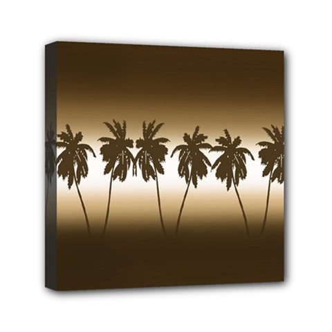 Tropical Sunset Mini Canvas 6  X 6  by Valentinaart