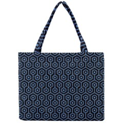 Hexagon1 Black Marble & Blue Colored Pencil Mini Tote Bag by trendistuff