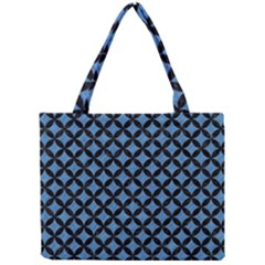 Circles3 Black Marble & Blue Colored Pencil (r) Mini Tote Bag by trendistuff
