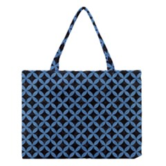 Circles3 Black Marble & Blue Colored Pencil Medium Tote Bag by trendistuff