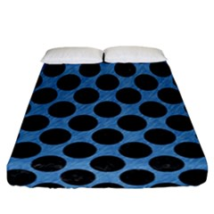 Circles2 Black Marble & Blue Colored Pencil (r) Fitted Sheet (california King Size) by trendistuff