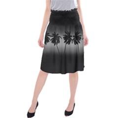 Tropical Sunset Midi Beach Skirt by Valentinaart