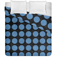 Circles1 Black Marble & Blue Colored Pencil Duvet Cover Double Side (california King Size) by trendistuff