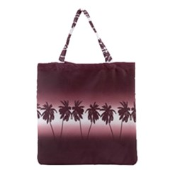 Tropical Sunset Grocery Tote Bag by Valentinaart