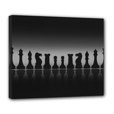 Chess Pieces Deluxe Canvas 24  X 20   by Valentinaart
