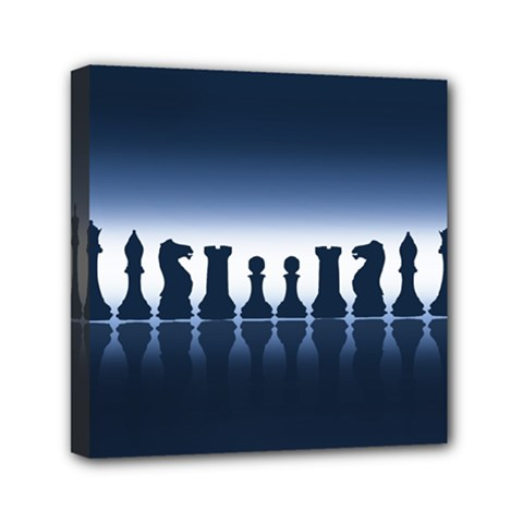 Chess Pieces Mini Canvas 6  X 6  by Valentinaart