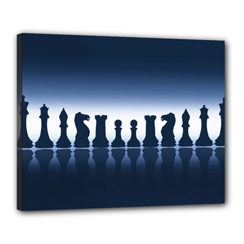 Chess Pieces Canvas 20  X 16  by Valentinaart
