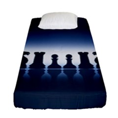 Chess Pieces Fitted Sheet (single Size) by Valentinaart