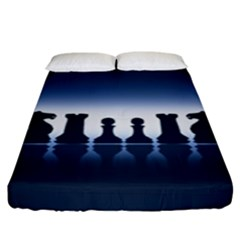 Chess Pieces Fitted Sheet (king Size) by Valentinaart