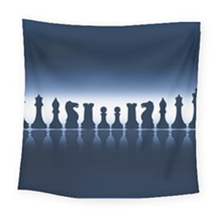 Chess Pieces Square Tapestry (large) by Valentinaart