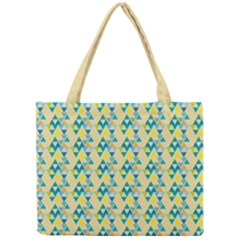 Colorful Triangle Pattern Mini Tote Bag by berwies