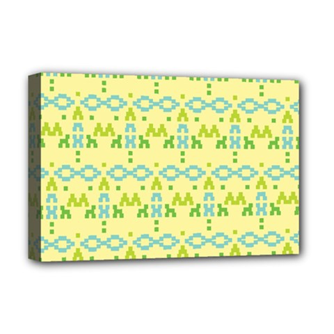 Simple Tribal Pattern Deluxe Canvas 18  X 12   by berwies