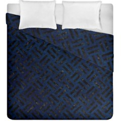 Woven2 Black Marble & Blue Grunge (r) Duvet Cover Double Side (king Size) by trendistuff