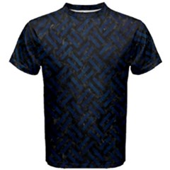 Woven2 Black Marble & Blue Grunge Men s Cotton Tee by trendistuff
