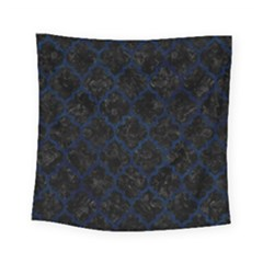 Tile1 Black Marble & Blue Grunge Square Tapestry (small) by trendistuff