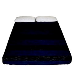 Stripes2 Black Marble & Blue Grunge Fitted Sheet (king Size) by trendistuff