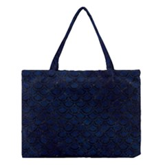 Scales2 Black Marble & Blue Grunge (r) Medium Tote Bag by trendistuff