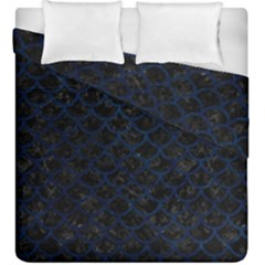 Scales1 Black Marble & Blue Grunge Duvet Cover Double Side (king Size) by trendistuff