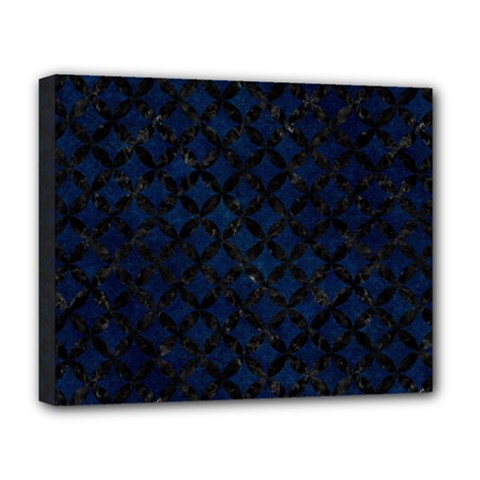 Circles3 Black Marble & Blue Grunge (r) Deluxe Canvas 20  X 16  (stretched) by trendistuff