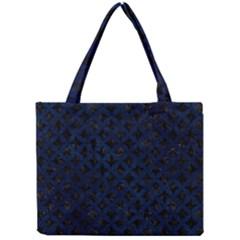 Circles3 Black Marble & Blue Grunge Mini Tote Bag by trendistuff