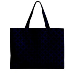 Circles3 Black Marble & Blue Grunge Zipper Mini Tote Bag by trendistuff