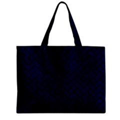 Brick2 Black Marble & Blue Grunge (r) Zipper Mini Tote Bag by trendistuff