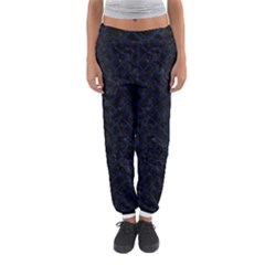 Brick2 Black Marble & Blue Grunge Women s Jogger Sweatpants