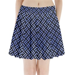 Woven2 Black Marble & Blue Watercolor Pleated Mini Skirt by trendistuff