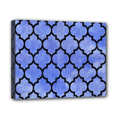 Tile1 Black Marble & Blue Watercolor (r) Canvas 10  X 8  (stretched) by trendistuff