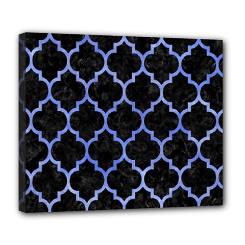Tile1 Black Marble & Blue Watercolor Deluxe Canvas 24  X 20  (stretched) by trendistuff