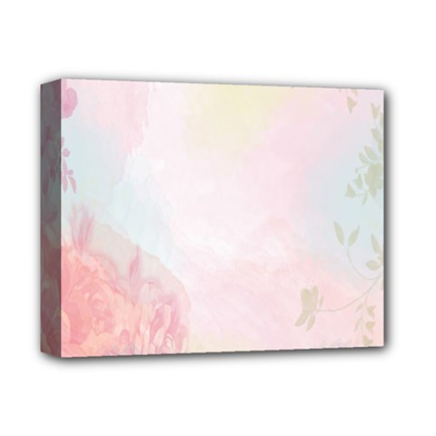 Watercolor Floral Deluxe Canvas 14  X 11  by Nexatart
