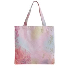 Watercolor Floral Grocery Tote Bag by Nexatart