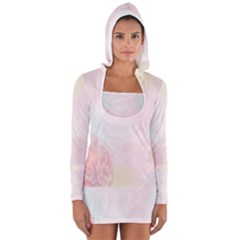 Watercolor Floral Women s Long Sleeve Hooded T Shirt