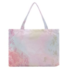 Watercolor Floral Medium Zipper Tote Bag