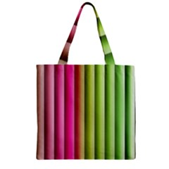Vertical Blinds A Completely Seamless Tile Able Background Zipper Grocery Tote Bag by Nexatart