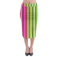 Vertical Blinds A Completely Seamless Tile Able Background Midi Pencil Skirt by Nexatart