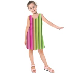 Vertical Blinds A Completely Seamless Tile Able Background Kids  Sleeveless Dress