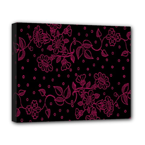 Pink Floral Pattern Background Deluxe Canvas 20  X 16
