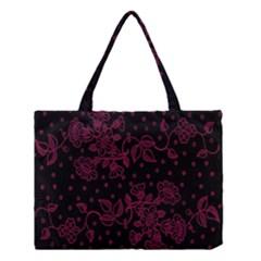 Pink Floral Pattern Background Medium Tote Bag by Nexatart