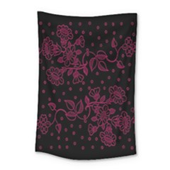 Pink Floral Pattern Background Small Tapestry by Nexatart