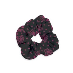Pink Floral Pattern Background Velvet Scrunchie
