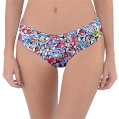 Lovely Floral 31f Reversible Classic Bikini Bottoms by MoreColorsinLife