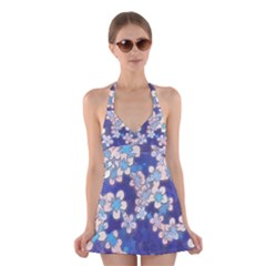 Lovely Floral 29 C Halter Swimsuit Dress by MoreColorsinLife